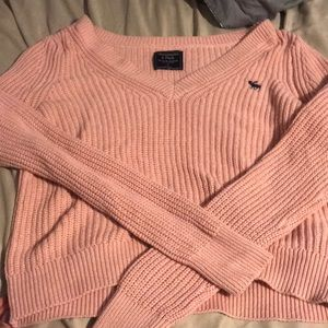 Pink Abercrombie & Finch knitted sweater